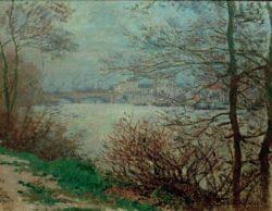 """Claude Monet """"Das  Seine-Ufer bei der Insel Grande-Jatte"""" 65 x 50 cm"""