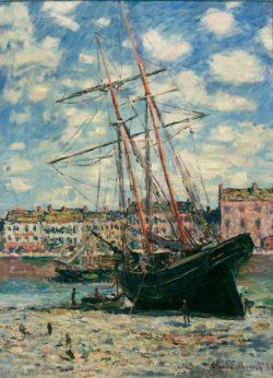 "Claude Monet ""Auf Kiel gelegtes Schiff in Fecamp"" 60 x 82 cm"