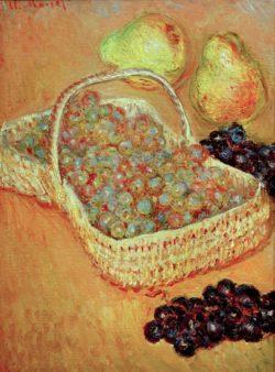 """Claude Monet """"Korb mit Weintrauben und Birnen"""" 37 x 50 cm"""