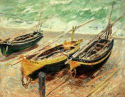 "Claude Monet ""Drei Fischerboote"" 92 x 73 cm"