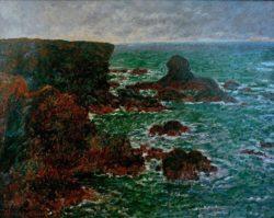 "Claude Monet ""Der Löwenfelsen"" 85 x 66 cm"