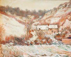 """Claude Monet """"Schneestimmung bei Falaise"""" 81 x 66 cm"""