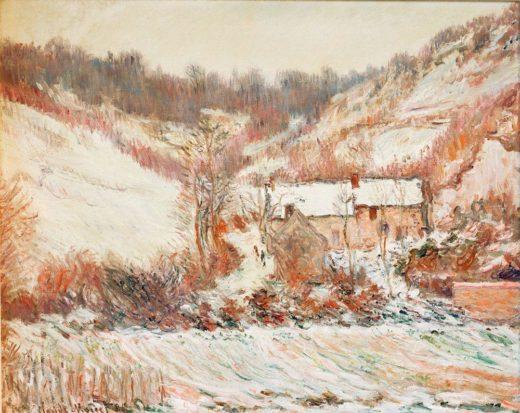"""Claude Monet """"Schneestimmung bei Falaise"""" 81 x 66 cm 1"""