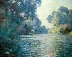 """Claude Monet """"Arm der Seine bei Giverny"""" 92 x 75 cm"""