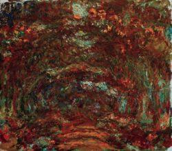 "Claude Monet ""Die Rosenallee"" 100 x 89 cm"