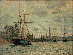 """Claude Monet """"Die Seine bei Rouen"""" 65 x 50 cm"""