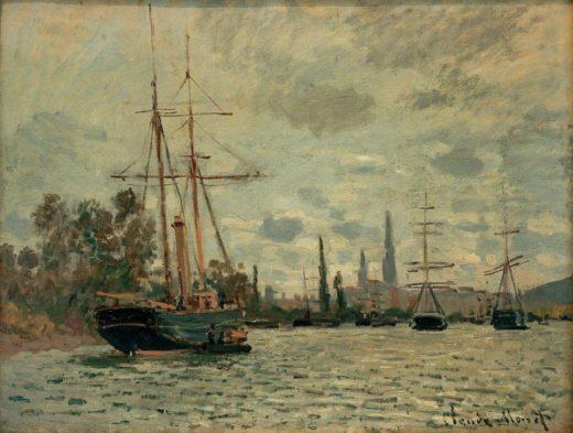 """Claude Monet """"Die Seine bei Rouen"""" 65 x 50 cm 1"""