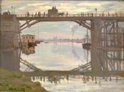 "Claude Monet ""Die Holzbrücke"" 73 x 54 cm"