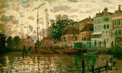 """Claude Monet """"Der Dam in Zaandam am Abend"""" 72 x 44 cm"""