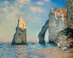 "Claude Monet ""Die Nadel und die Falaise d'Aval"" 81 x 64 cm"