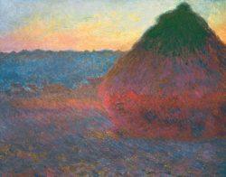 """Claude Monet """"Heuhaufen"""" 92 x 73 cm"""