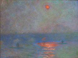 "Claude Monet ""Waterloo Bridge-Sonne im Nebel"" 100 x 73 cm"