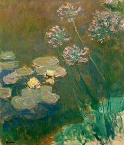 """Claude Monet """"Seerosen und Agapanthus"""" 120 x 140 cm"""