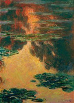 "Claude Monet ""Nympheas -Seerosen"" 73 x 100 cm"