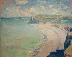 """Claude Monet """"Der Strand von Pourville"""" 73 x 60 cm"""