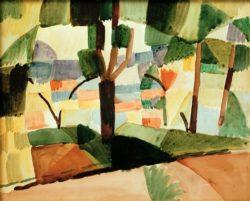 "August Macke ""Kandern IV"" 38 x 23 cm"