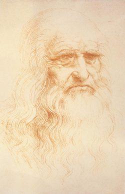 "Leonardo da Vinci ""Selbstbildnis"" 21 x 33 cm"