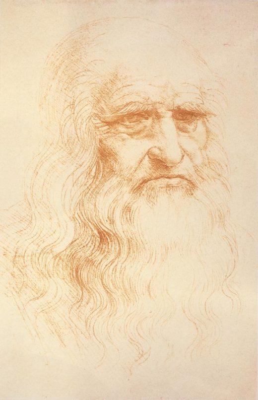"Leonardo da Vinci ""Selbstbildnis"" 21 x 33 cm 1"