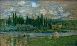 """Claude Monet """"Ansicht von Vetheuil sur Seine"""" 100 x 60 cm"""