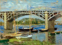 """Claude Monet """"Seinebrücke von Argenteuil"""" 81 x 60 cm"""
