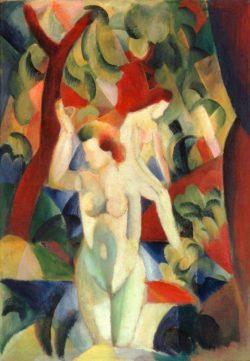 "August Macke ""Badende Frauen"" 72 x 102 cm"