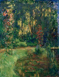 """Claude Monet """"Ein Winkel am Teich von Giverny"""" 83 x 117 cm"""