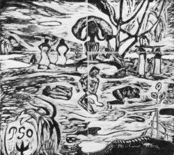 """Paul Gauguin """"Der Tag Gottes""""  20 x 18 cm"""