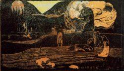 """Paul Gauguin """"Danksagung""""  36 x 21 cm"""