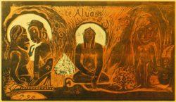"Paul Gauguin ""Die Götter""  36 x 20 cm"