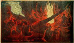 """Paul Gauguin """"Der Teufel spricht""""  36 x 20 cm"""