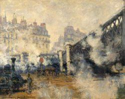 """Claude Monet """"Le Pont de l'Europe"""" 81 x 64 cm"""