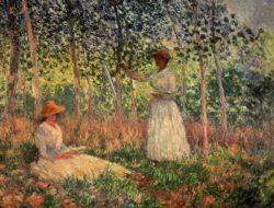 """Claude Monet """"Suzanne und Blanche Hoschede"""" 130 x 97 cm"""