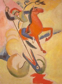 "August Macke ""Heiliger Georg"" 60 x 81 cm"
