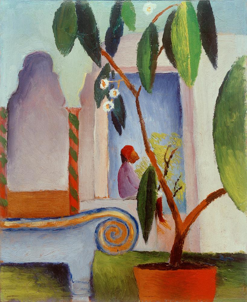 "August Macke ""Arabisches Cafe"" 22 x 27 cm"