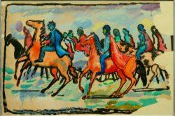 """August Macke """"Reiter"""" 77 x 50 cm"""