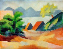 "August Macke ""Am Thuner See I"" 29 x 23 cm"