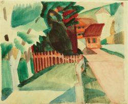 """August Macke """"Dorfstraße"""" 30 x 24 cm"""