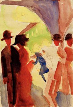 """August Macke """"Unter den Lauben in Thun I"""" 16 x 25 cm"""