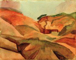 """August Macke """"Schlucht"""" 26 x 20 cm"""