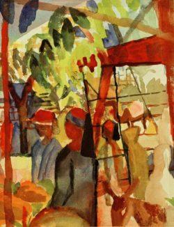 """August Macke """"Marktleben"""" 20 x 26 cm"""