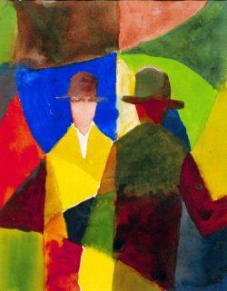 """August Macke """"Spiegelbild im Schaufenster"""" 23 x 29 cm"""