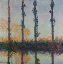 """Claude Monet """"Die vier Pappeln"""" 81 x 82 cm"""
