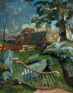 """Paul Gauguin """"Das Gatter (Die Schweinehirtin)""""  73 x 93 cm"""