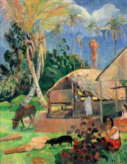 """Paul Gauguin """"Die schwarzen Schweine""""  72 x 91 cm"""