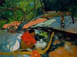 """Paul Gauguin """"Der Morgen (Te poi poi)""""  92 x 68 cm"""