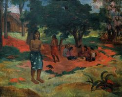 "Paul Gauguin ""Die geflüsterten Worte (Parau parau II)""  96 x 76 cm"