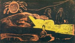 "Paul Gauguin ""Die grosse Nacht (Te Po)""  36 x 21 cm"