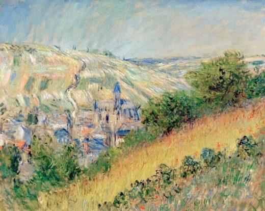 """Claude Monet """"Ansicht von Vetheuil sur Seine"""" 80 x 62 cm 1"""