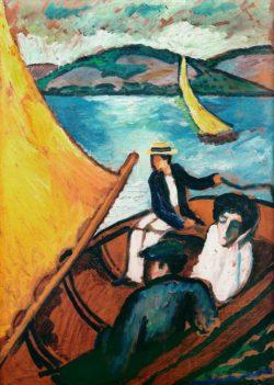 "August Macke ""Segelboot, Tegernsee"" 51 x 72 cm"