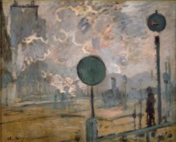 "Claude Monet ""Bahnhof Saint-Lazare - Das Signal"" 81 x 65 cm"
